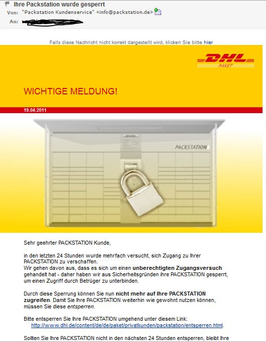 dhl packstation phishing