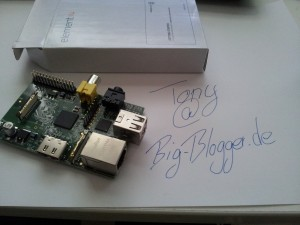 Mein Raspberry PI Model B